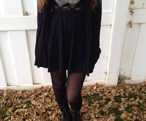outfit, black, and autumn image