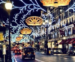 light, christmas, and london image