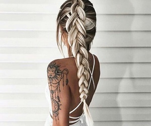 tatoo, hair goals, and photogenic image