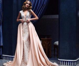 dress, pink, and woman image