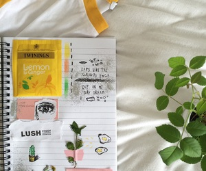 journal, yellow, and art image