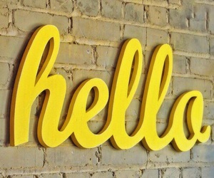 yellow and hello image