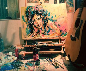 Amy Winehouse, art, and beautiful image