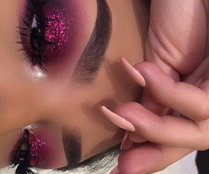 art, shadows, and makeup lover image