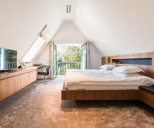 bed, belgium, and decor image