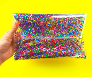 etsy, rainbow glitter, and glitter clutch image