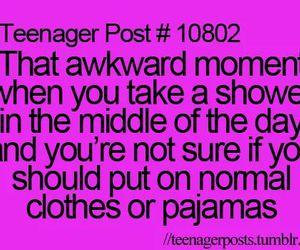 teenager post, shower, and pyjamas image