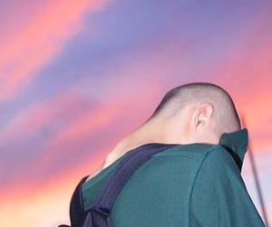 boy, sky, and green image