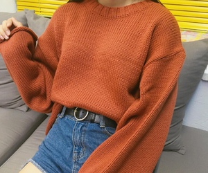 fashion, orange, and style image