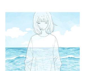 anime, anime girl, and blue image