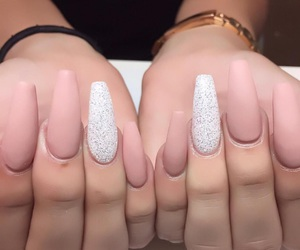 baby pink, gold, and nails image