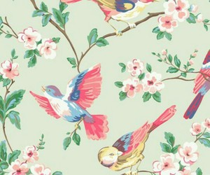 background, bird, and flowers image