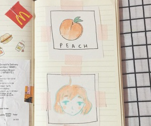 peach, aesthetic, and tumblr image