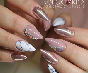 finland, marble, and nail art image