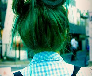 haire, alternative girl, and green haire image