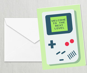 card, gameboy, and greeting image