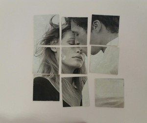 black, puzzle, and couple image