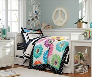 bedroom, flowers, and peace image
