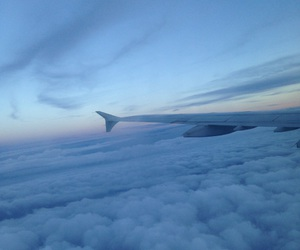 clouds, fly, and sky image