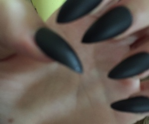 black, nails, and sharp image