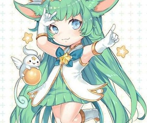 green, lulu, and league of legends image