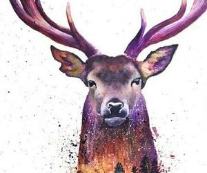 animal, art, and purple image