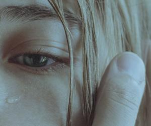 girl, sad, and cry image