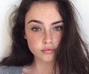 girl, freckles, and beauty image