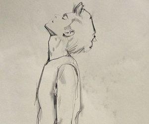 art, boy, and draws image