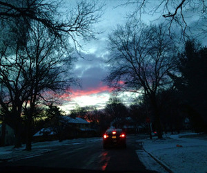 sky, blue, and car image