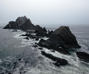 sea, ocean, and grunge image