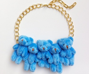 blue, necklace, and plush image