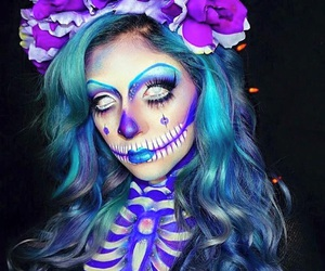 makeup, face, and Halloween image