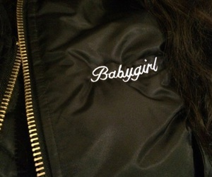 babygirl, jacket, and black image