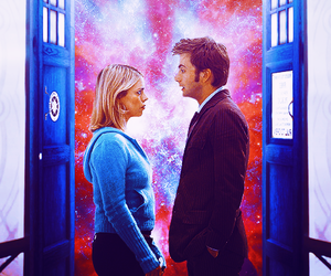 doctor who, rose tyler, and tardis image