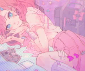 kawaii, blush, and drawing image