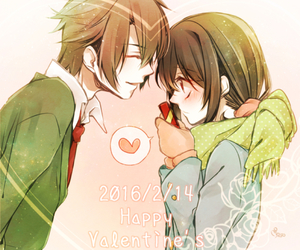 romance, anime couple, and manga shoujo image