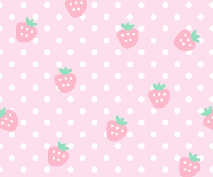 strawberry, pink, and wallpaper image