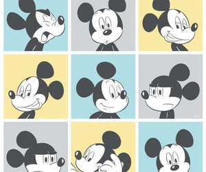 cartoon, faces, and mickey image