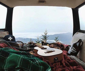guitar, travel, and nature image