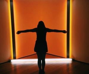 aesthetic, girl, and orange image