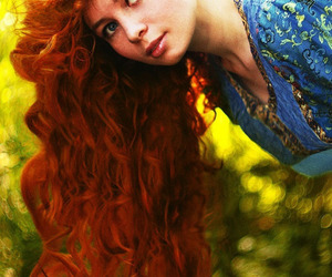 beautiful, curly red hair, and girl image