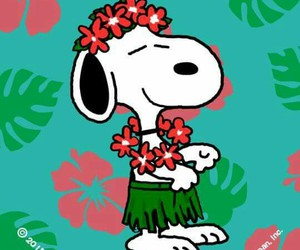 flowers, snoopy, and wallpaper image