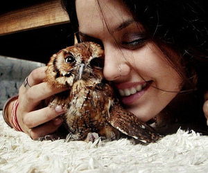 owl, girl, and cute image