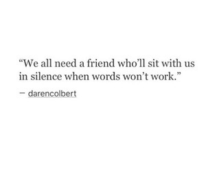 quote, silence, and friends image