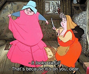 disney, funny, and dress image