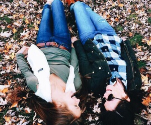 best friends, fall, and fall fashion image