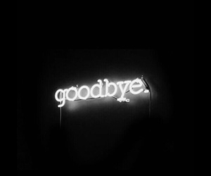 goodbye and black image