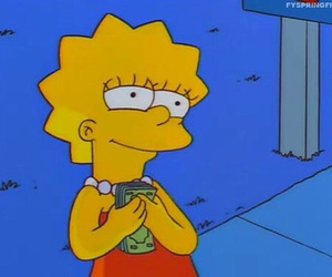 money, simpsons, and lisa image