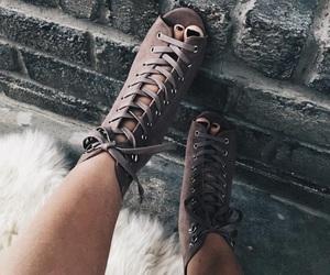 fashion, heels, and grey image